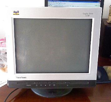 80元出售纯平电脑显示器9成新