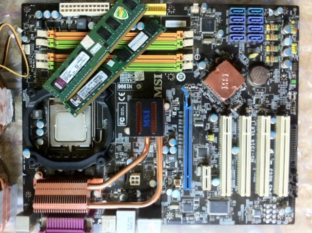 【九成新】自用台式机主板cpu等配件 e8400 p45